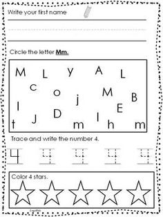 Worksheets Kindergarten Morning Worksheets morning work literacy and kindergarten on pinterest august