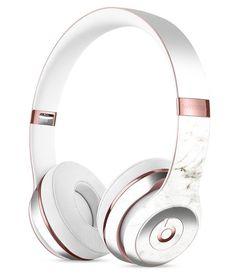White Slight Grunge Marble Surface Full-Body Skin Kit for the Beats by Dre Solo 3 Wireless Headphones