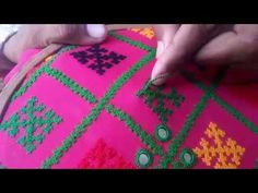 Hand Embroidery and Its Types - Embroidery Patterns Embroidery On Kurtis, Hand Embroidery Videos, Hand Embroidery Flowers, Embroidery Stitches Tutorial, Hand Work Embroidery, Indian Embroidery, Hand Embroidery Patterns, Kutch Work Designs, Sewing Art