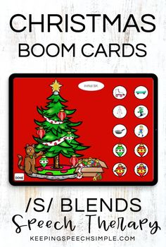 Motivate students with ths interactive digital resource for the Christmas Season. Students will decorate the Christmas tree as they practice speech sounds. This speech therapy activity targets initial, medial and final /s/ blends. Use with your preschool, kindergarten and elementary students. This activity is appropriate for distance learning, teletherapy and in person speech therapy sessions. Also target Christmas vocabulary and spatial concepts. Keep speech fun this Christmas season!