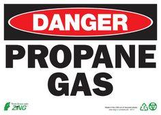 Sign, Danger Propane, 10x14, Aluminum