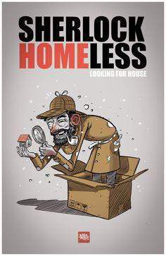 Image result for sherlock homeless illustration