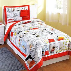Peanuts Comforter Set  Must say I love both comforters AND the Peanuts Gang :D