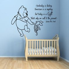 Creative DIY Winnie the Pooh Piglet home decoration Baby Quote Wall Decal Nursery Wall Stickers home decoration # T114 #Affiliate