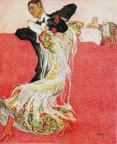 zombienormal:   Tango Argentina, Paul Rieth, Jugend magazine, 1914. Via.