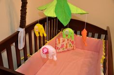 Him & Her: Crib bedding   #DIY #baby mobil