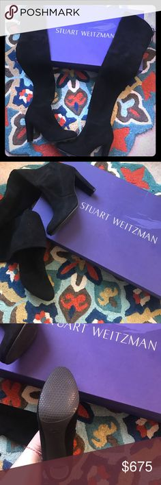 Stuart Weitzman Highland Boot In mint condition!!!  Worn outside once for photo shoot.  Paid $800 with tax! Stuart Weitzman Shoes Heeled Boots