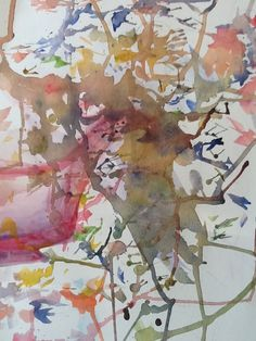 Abstract Watercolour Artwork by Artist Sharon Wood