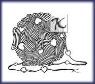 Kaspareks knitting themed fine art rubber stamps and cards