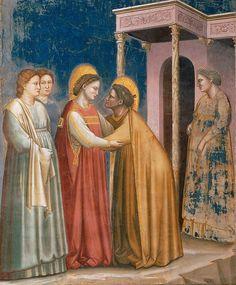 16. Встреча Марии и Елизаветы. Джотто ди Бондоне