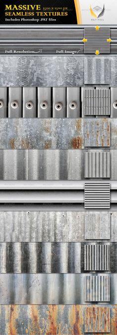10 Seamless Ribbed Metal Textures - Urban Textures / Fills / Patterns