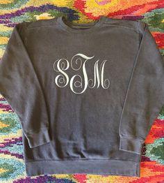 A personal favorite from my Etsy shop https://www.etsy.com/listing/474505720/sale-monogram-jerzee-nublend-sweatshirt