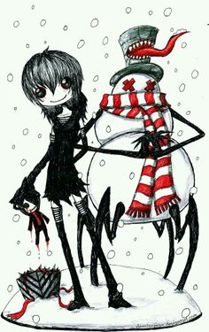Anime Chibi, Manga Anime, Anime Art, Emo Pictures, Creepy Pictures, Emo Art, Goth Art, Scary Drawings, Love Drawings