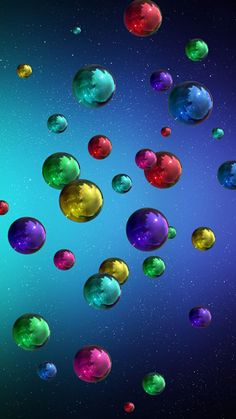 flying balls wallpaper by georgekev - 76 - Free on ZEDGE™ Bubbles Wallpaper, Rainbow Wallpaper, Butterfly Wallpaper, Cute Wallpaper Backgrounds, Pretty Wallpapers, Galaxy Wallpaper, Colorful Wallpaper, Cellphone Wallpaper, Screen Wallpaper