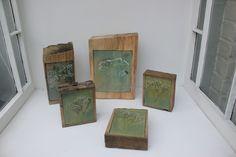 Gypsophila Glass Paintings by Helen Dyne