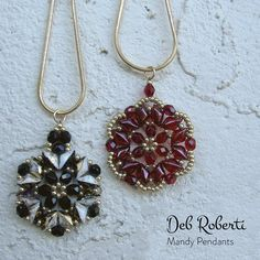 Mandy Bands beaded pattern tutorial by Deb Roberti Beaded Jewelry Patterns, Beading Patterns, Beading Jewelry, Jewellery, Seed Bead Earrings, Beaded Necklace, Beaded Brooch, Seed Beads, Super Duo Beads