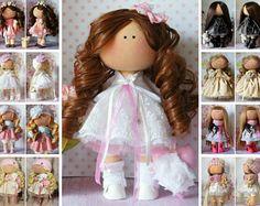 Kukull Soft doll Baba Panenka Rag doll Docka Textile doll Art doll Bambola Tilda doll Pink doll Dukke Handmade doll Fabric doll by Anastasia