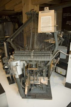 Typograph Historic Typesetting Machine, Was also in Use on Ocean Liners to Produce Onboard Newspapers