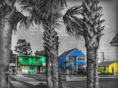 This shops on Gulf Blvd. in Treasure Island are a wonderful example of Floridas preference for bright colors. Colorful and exotic ! - Foto von Hanny Heim Snowbird Fotografie #photography #fotografie #treasureisland #architecture #architektur