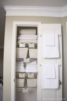Linen Closet Makeover. | AWA Services, Inc. Donation Pickup & Junk Removal Omaha, NE.
