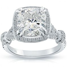 Engagement & Wedding 2.92 Carat Round Cut Halo Diamond Engagement Ring Vs2/f White Gold 18k