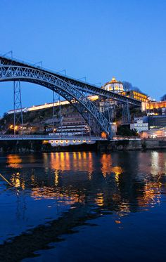 Golden reflections at the blue hour - Porto, Porto, Portugal