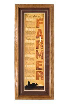 """I was Born to Be A FARMER"" Framed Print"