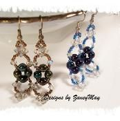 Ice Crystal Earrings - via @Craftsy