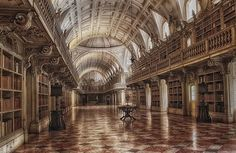 Library at Mafra Palace. Portugal.