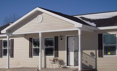 Modular Home Located Near Ann Arbor, MI With Custom Front Porch.