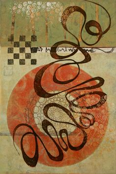 """Open Invitation, by Anne Moore, monotype, 15""""X 10"""""""