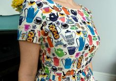 Time for Tea dress - #sewdollyclackett  A milk jug...on my jug!