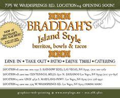Braddah's Island Style | burritos, bowls & tacos