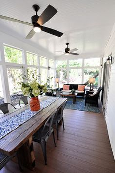 Screened Porch Get Away - contemporary - porch - dc metro - Arlington Home Interiors