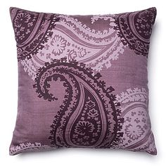 Loloi Oversized Paisley 18-Inch Square Throw Pillow in Purple