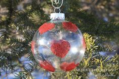 DIY Glitter Ornaments made with Silhouette Double Sided Adhesive