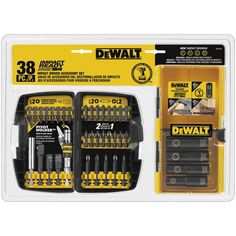 DEWALT 38pc Impact Ready and Accessory Set DW2169 New