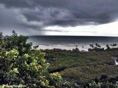 O temporal chegando Trancoso - Bahia