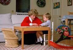 Princess Diana and Prince William in Kensington Palace