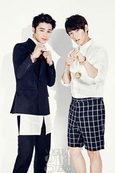Btob's Sungjae & Minhyuk // Vogue Girl // August 2013