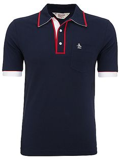 Buy Original Penguin The Earl Triple Colour Polo Shirt, White online at JohnLewis.com - John Lewis