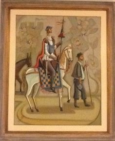 """O. PELLEGATTA, """"Dom Quixote"""", OST, 91 x 71 , ACID, c/Moldura"""