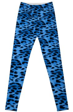 Blue Leopard Print leggings from Print All Over Me