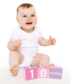 Pink Three-Piece Age Block Set