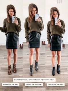 Nov 2019 - Talking about how to wear ankle boots and giving you oodles of outfit inspiration from wearing ankle booties with leggings to cuffed jeans and more! Ankle Boots With Leggings, Best Ankle Boots, Pointed Ankle Boots, How To Wear Ankle Boots, Ankle Boots Dress, Fringe Ankle Boots, Skirts With Boots, Dress With Boots, Ankle Booties