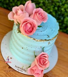 Elegant Birthday Cakes, Beautiful Birthday Cakes, Beautiful Cakes, Amazing Cakes, Cake Decorating Designs, Cake Decorating Techniques, Cake Designs, Pretty Cakes, Cute Cakes
