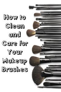 How to Clean and Care for your Make-up Brushes