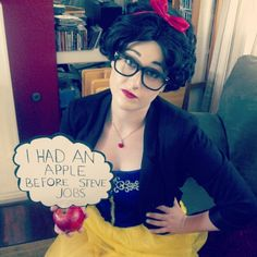 """Pin for Later: 23 Ways to Channel Snow White This Halloween Hipster Snow White """"She told me the apple was organic,"""" would also work for this quirky costume."""