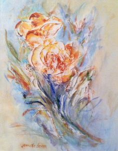 Peaceful Rose by Intuitive Artist Jenn Royster