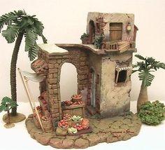 Imagen relacionada Miniature Rooms, Miniature Houses, Christmas Nativity, Christmas Crafts, Christmas Decorations, Christmas Grotto Ideas, Stage Set Design, Modelos 3d, Ceramic Houses